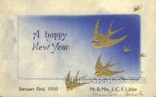 new001232 - New Years Eve Postcard Post Cards Old Vintage Antique