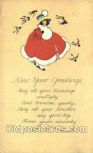 new001242 - New Years Eve Postcard Post Cards Old Vintage Antique