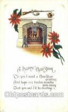 new001243 - New Years Eve Postcard Post Cards Old Vintage Antique
