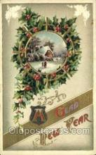 new001252 - New Years Eve Postcard Post Cards Old Vintage Antique