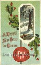 new001254 - New Years Eve Postcard Post Cards Old Vintage Antique
