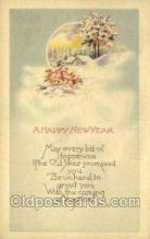 new001275 - New Years Eve Postcard Post Cards Old Vintage Antique