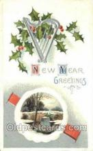 new001276 - New Years Eve Postcard Post Cards Old Vintage Antique