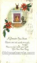 new001277 - New Years Eve Postcard Post Cards Old Vintage Antique