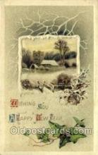 new001278 - New Years Eve Postcard Post Cards Old Vintage Antique