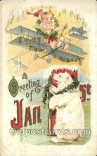 new001284 - New Years Eve Postcard Post Cards Old Vintage Antique