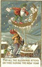 new001288 - New Years Eve Postcard Post Cards Old Vintage Antique