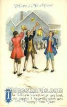 new001318 - New Years Eve Postcard Post Cards Old Vintage Antique