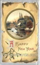 new001334 - New Years Eve Postcard Post Cards Old Vintage Antique