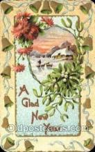 new001347 - New Years Eve Postcard Post Cards Old Vintage Antique