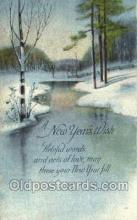 new001348 - New Years Eve Postcard Post Cards Old Vintage Antique