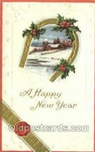 new001354 - New Years Eve Postcard Post Cards Old Vintage Antique