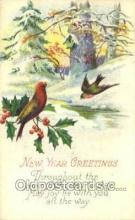 new001363 - New Years Eve Postcard Post Cards Old Vintage Antique