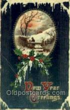 new001364 - New Years Eve Postcard Post Cards Old Vintage Antique