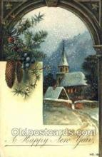new001373 - New Years Eve Postcard Post Cards Old Vintage Antique