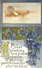 new001389 - New Years Eve Postcard Post Cards Old Vintage Antique