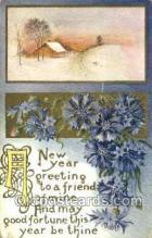new001391 - New Years Eve Postcard Post Cards Old Vintage Antique