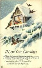 new001399 - New Years Eve Postcard Post Cards Old Vintage Antique