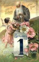 new001405 - New Years Eve Postcard Post Cards Old Vintage Antique