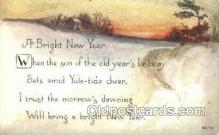 new001410 - New Years Eve Postcard Post Cards Old Vintage Antique