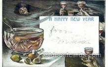new001412 - New Years Eve Postcard Post Cards Old Vintage Antique