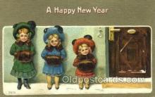 new001413 - New Years Eve Postcard Post Cards Old Vintage Antique