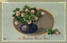 new001416 - New Years Eve Postcard Post Cards Old Vintage Antique
