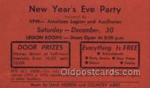 new001417 - New Years Eve Postcard Post Cards Old Vintage Antique