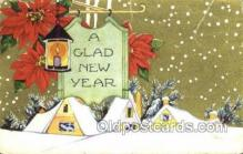 new001424 - New Years Eve Postcard Post Cards Old Vintage Antique