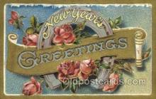 new001432 - New Years Eve Postcard Post Cards Old Vintage Antique