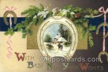 new001433 - New Years Eve Postcard Post Cards Old Vintage Antique