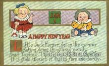 new001456 - New Years Eve Postcard Post Cards Old Vintage Antique