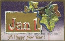 new001462 - New Years Eve Postcard Post Cards Old Vintage Antique