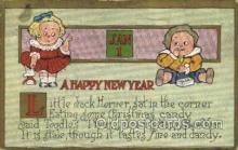 new001467 - New Years Eve Postcard Post Cards Old Vintage Antique