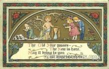 new001469 - New Years Eve Postcard Post Cards Old Vintage Antique