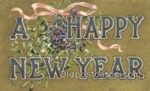 new001471 - New Years Eve Postcard Post Cards Old Vintage Antique