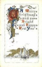 new001490 - New Years Eve Postcard Post Cards Old Vintage Antique