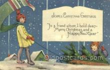 new001518 - New Years Eve Postcard Post Cards Old Vintage Antique