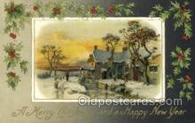 new001522 - New Years Eve Postcard Post Cards Old Vintage Antique