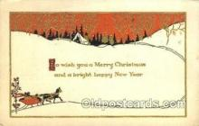 new001543 - New Years Eve Postcard Post Cards Old Vintage Antique