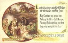 new001551 - New Years Eve Postcard Post Cards Old Vintage Antique