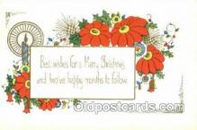 new001554 - New Years Eve Postcard Post Cards Old Vintage Antique