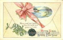 new001556 - New Years Eve Postcard Post Cards Old Vintage Antique