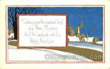 new001563 - New Years Eve Postcard Post Cards Old Vintage Antique