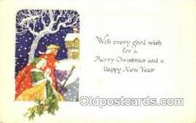 new001584 - New Years Eve Postcard Post Cards Old Vintage Antique