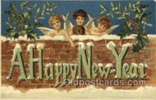 new001593 - New Years Eve Postcard Post Cards Old Vintage Antique