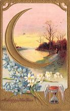 new002001 - New Years Day Postcards Old Vintage Antique Post Cards