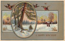new002041 - New Years Day Postcards Old Vintage Antique Post Cards