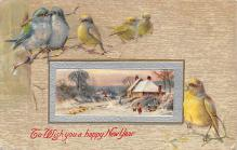 new002045 - New Years Day Postcards Old Vintage Antique Post Cards