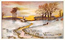 new002055 - New Years Day Postcards Old Vintage Antique Post Cards